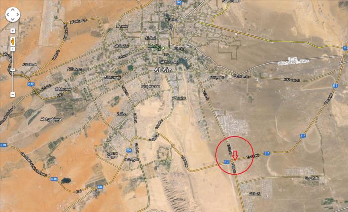 Map of Al-Ain