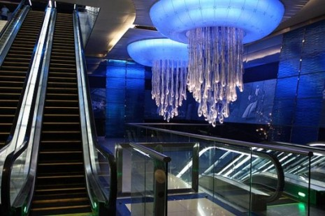 Elevators view in Burjaman Metro Station